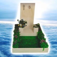 monumentino in marmo di travertino