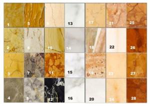 modelli marmi e graniti del laboratorio a roma