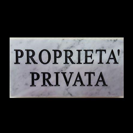 cartello proprieta privata in marmo